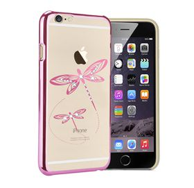 Astrum Dragonfly iPhone 6 & 6S Plus Swarovski Crystal Case- MC350 Pink