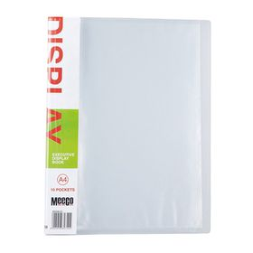 Meeco Executive A4 Display Book 10 Pockets - Clear