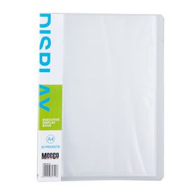 Meeco Executive A4 Display Book 20 Pockets - Clear