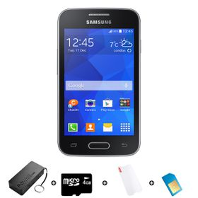 Samsung Trend Neo 4GB 3G Black - Bundle 6 incl. 1.2GB Starter Pack + Accessories