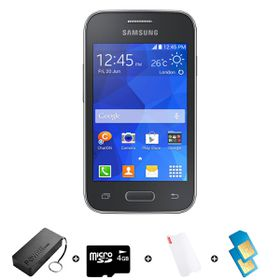 Samsung Young 2 4GB 3G Black - Bundle 3 incl. R1000 Airtime + 1.2GB Starter Pack + Accessories