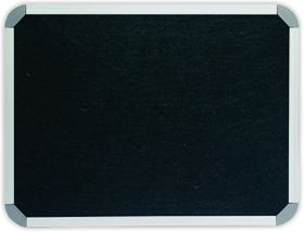 Parrot Info Board Aluminium Frame - Black Felt (900 x 900mm)