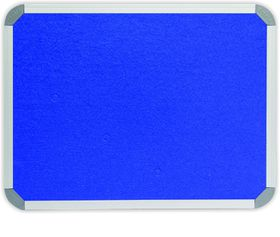 Parrot Info Board Aluminium Frame - Royal Blue Felt (900 x 900mm)