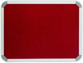 Parrot Info Board Aluminium Frame - Burgundy Felt (900 x 900mm)