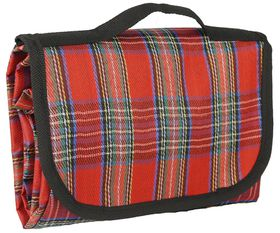 Marco Picnic Blanket - Checkered Red