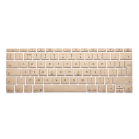 "Tuff-Luv Silicone Keyboard Protection for New Macbook 12"" - Gold (UK/EU Keyboard Layout)"