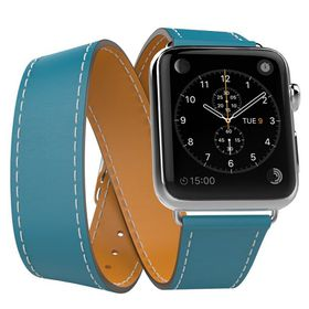 Tek88 Apple Watch 38mm Hermes Teal Leather Double Tour