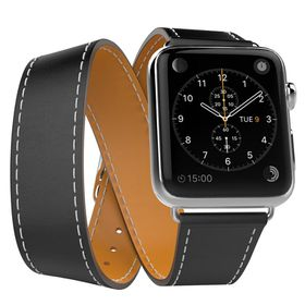 Tek88 Apple Watch 38mm Hermes Charcoal Leather Double Tour