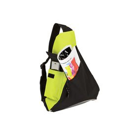 Eco Sling Bag With Mesh Pockets - Lime