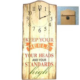 Pamper Hamper - Keep Your Heels Wooden Wall Plaque With Clock