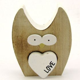 Pamper Hamper Wooden Owl Decoration