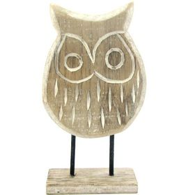 Pamper Hamper Wooden Standing Owl