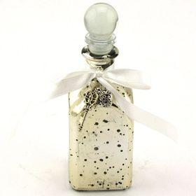 Pamper Hamper Glass Bottle with Key Decoration