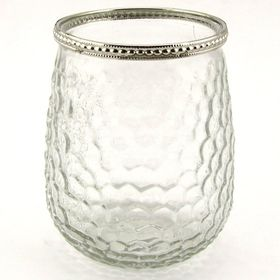 Pamper Hamper - Honeycomb Design Glass Jar