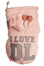 Dog's Life - I Love DL Hoodie - Pink Large