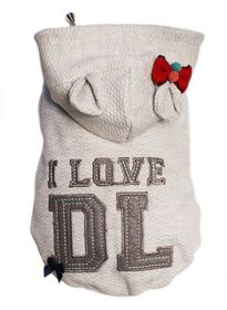 Dog's Life - I Love DL Hoodie - Grey Extra Large