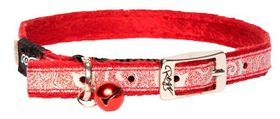 Rogz Sparkle Cat Pin Buckle Collar - Red