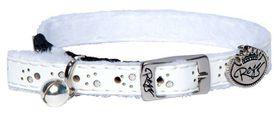 Rogz - Trendy Cat Pin Buckle Collar - White