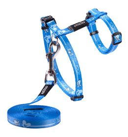Rogz Kiddy Cat H-Harness & Lead Combination - Royal Birds Design