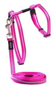 Rogz - Alley Cat Reflective Lead & H-Harness Combination - Pink