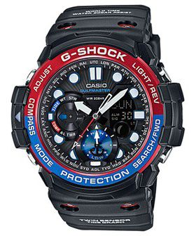 Casio Mens GN-1000-1ADR G-Shock Gulfmaster Anadigital Watch
