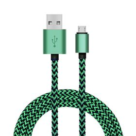 Tuff-Luv USB Type C to USB 2.0 - Data/Charge Cable 1.2 Meter (Woven Style with Metal Head) - Green