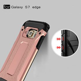 Tuff-Luv Tough Armour Case for the Samsung Galaxy S7 Edge - Rose Gold