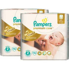 Pampers - Premium Care Nappies - Size 2 - (2 x 96 Count)