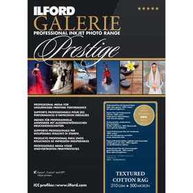 Ilford Prestige Textured Cotton Rag 19 A4 Photo Paper