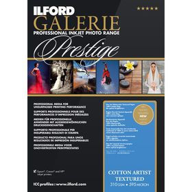 Ilford Prestige Cotton Artist Textured 23 A4 Photo Paper