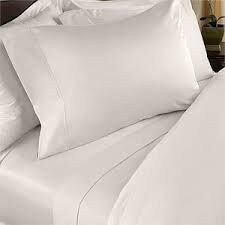Chic Linen - Luxurious Fitted Sheet White - Size: Three Quarter
