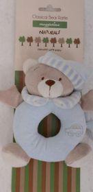 Snuggletime - Classical Plush Bear Rattle - Blue