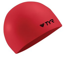 TYR Wrinkle Free Silicone Swimming Cap - Red