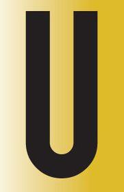 Tower Adhesive Reflective Letter Sign - Medium U