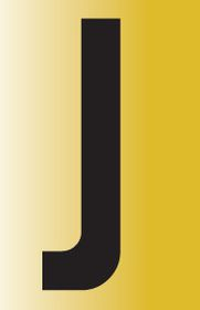 Tower Adhesive Reflective Letter Sign - Large J
