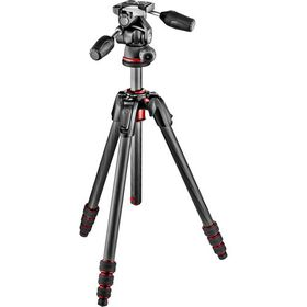 Manfrotto MK190GOC4TB-3W New 190 Go! Carbon 4-Section Tripod Kit with MH804-3W 3-Way Head