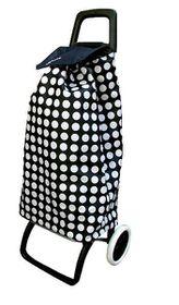 Elegant Polka Dot Shopping Bag Trolley