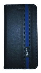 Scoop Executive Folio For Sony Xperia E4G - Black & Blue