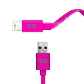 Puregear MFI Apple Lightning USB Charge & Sync Flat Cable 1.2m - Pink
