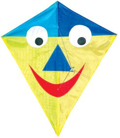 Allwin Diamond Kite Single Line SmileyFace - 60x70cm