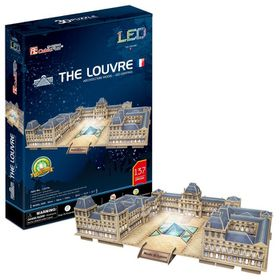 Cubic Fun The Louvre with LED Unit France - 137 Piece