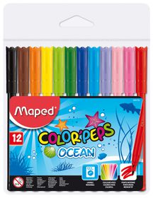 Maped Color'Peps 12 Ocean Felt Tip Colouring Pens