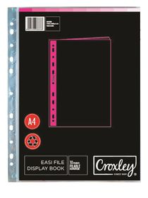 Croxley Easi File A4 Display Book - 10 Pockets