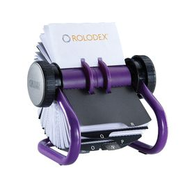 Rolodex A-Z Rotary Open Card File - Purple