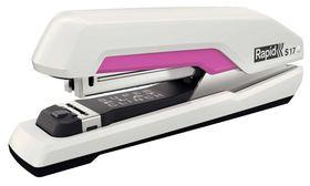 Rapid Omnipress Supreme F17 Full Strip Stapler - White/Pink