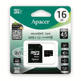 Apacer 16GB MicroSDHC UHS-I Card with Adaptor - Class 10