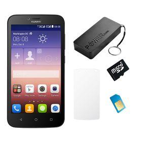 Huawei Y625 4GB 3G Black - Bundle 6 incl. 1.2GB Starter Pack + Accessories