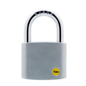 Yale - 60mm Brass Satin Chrome Padlock