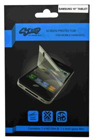 "Scoop Screen Protector for Samsung 10.1"" (Tab 4) Twin Pack"