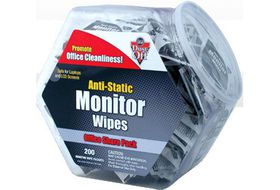 Falcon Dust-Off Monitor Wipes Share Pack Jar of 200 Packets